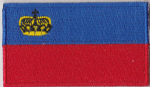 Liechtenstein Embroidered Flag Patch, style 04